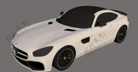 奔驰汽车SU模型设计图片