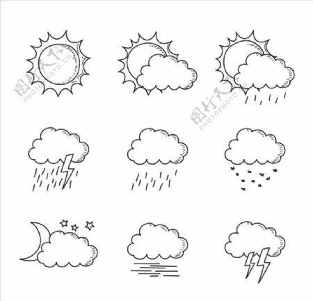 卡通云朵图片