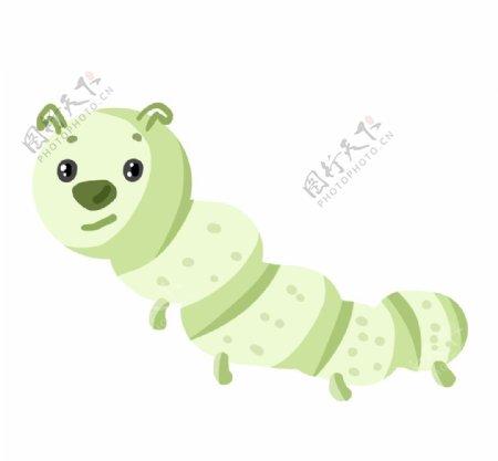 绿色爬行的毛毛虫图片