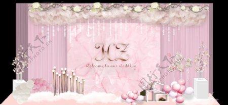 粉色婚礼效果图图片