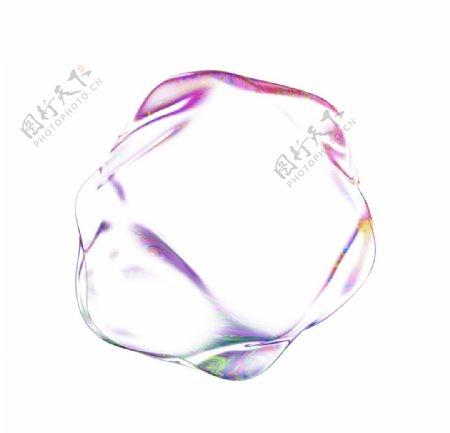 透明免抠泡泡彩色肥皂泡泡图片