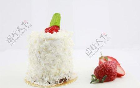 天使优格蛋糕甜点图片