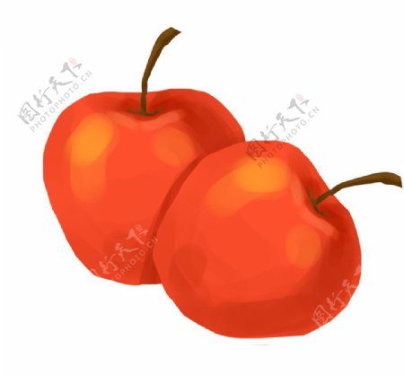 红色苹果素材图片
