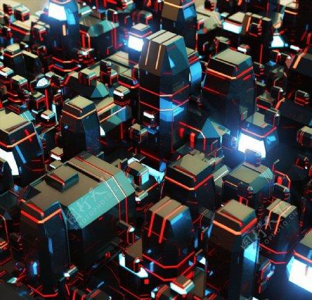 C4D模型机械电路板零件设备图片