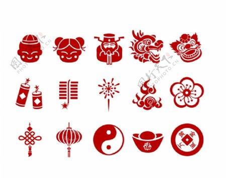 春节矢量元素图片