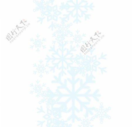 蓝色雪花图片