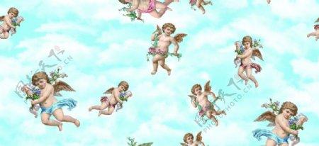 蓝天天使图片