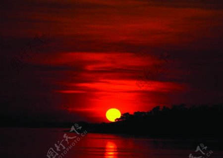 晚霞夕阳图片