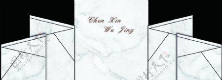 大理石纹婚礼背景设计图片